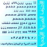 Arabische Alphabete und Vokal des Vektors lizenzfreies stockbild