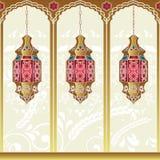 Arabische Art-Lampen Stockfotos