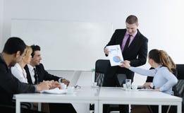 Arabische bedrijfsmens op vergadering Stock Afbeelding