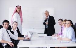 Arabische bedrijfsmens op vergadering Stock Foto