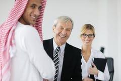 Arabische bedrijfsmens op vergadering Stock Afbeeldingen
