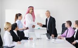 Arabische bedrijfsmens op vergadering Royalty-vrije Stock Afbeeldingen