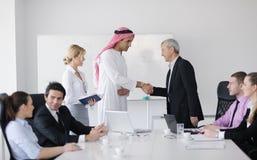 Arabische bedrijfsmens op vergadering Stock Foto's