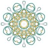 Arabische bunte Mandala Ethnische Stammes- Verzierungen lizenzfreie stockbilder