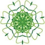 Arabische bunte Mandala Ethnisches Stammes- Verzierungsgrün lizenzfreie stockfotografie