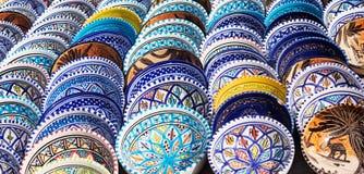 Arabische bunte Tonwaren Lizenzfreies Stockfoto