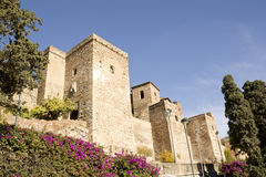 Arabische Castillo Malaga in dag Stock Foto