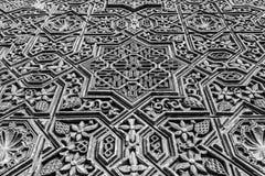 Arabische Dekoration auf acient Wand Stockbild