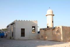 Arabische dorpsmoskee royalty-vrije stock fotografie