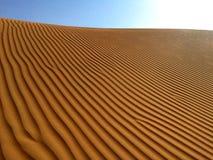 Arabische Emirate, Abu Dhabi, Wüsten-Sandmuster lizenzfreies stockfoto