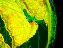 Arabische Emirate auf digitaler Erde stock abbildung