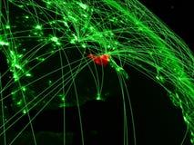 Arabische Emirate auf grüner Kugel lizenzfreie abbildung