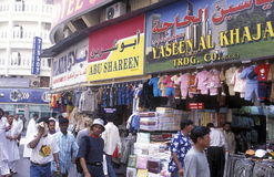 ARABISCHE EMIRATE DUBAI. Auf dem Souq oder Bazaar in Zentral Dubai in den Vereinten Arabischen Emiraten in Arabien.  (KEYSTONE/Urs Flueeler Stock Image