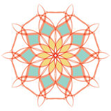 Arabische Farbmandala stock abbildung
