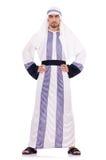 Arabische geïsoleerdep zakenman Royalty-vrije Stock Afbeeldingen