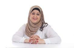 Arabische Geschäftsfrau/Leitprogramm   Stockbild