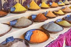 Arabische Gewürze, verschiedene Arten von Würzen für das Kochen, Art t Stockfoto