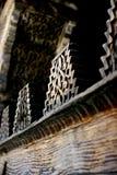 Arabische gravures in het hout Royalty-vrije Stock Foto's