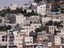 Arabische Häuser in Jerusalem Stockfotos