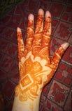 Arabische Henna Designs For Girls stockfoto