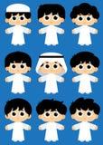 Arabische Jonge geitjes stock illustratie
