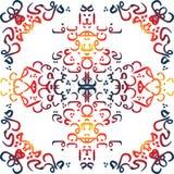 Arabische Kalligraphieart der nahtlosen Musterverzierung Stockfotos