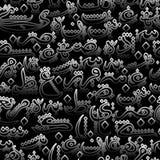 Arabische Kalligraphieart der nahtlosen Musterverzierung Lizenzfreie Stockfotos