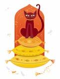 Arabische kat. stock illustratie