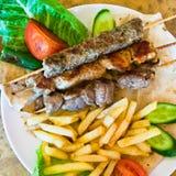 Arabische kebabs van de mengeling Stock Afbeeldingen