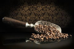 Arabische Koffie op glas Royalty-vrije Stock Afbeeldingen