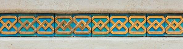 Arabische Kunstwandfliesen für Beschaffenheitshintergrund Stockfotografie