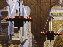 Arabische Lampen der Moschee von Cordoba Spanien lizenzfreie stockfotografie