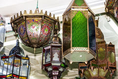 Arabische Lampen Marokkanische traditionelle Andenken Stockfotos