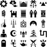 Arabische landenpictogrammen Stock Foto