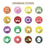 Arabische lange schaduwpictogrammen Royalty-vrije Stock Afbeelding