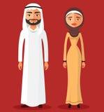 Arabische Leute, arabische Frau, arabischer Mann Auch im corel abgehobenen Betrag Lizenzfreie Stockbilder