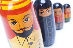 Arabische Mann-Frauen-Kind-Familien-Verschachtelungs-Puppen Lizenzfreie Stockfotografie