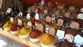 Arabische Markten Ibiza Spanje Royalty-vrije Stock Foto's