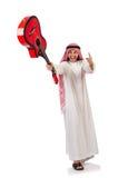 Arabische mens het spelen gitaar Stock Afbeelding