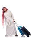 Arabische mens met bagage Stock Afbeelding