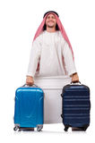 Arabische mens met bagage Royalty-vrije Stock Afbeeldingen