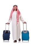 Arabische mens met bagage Royalty-vrije Stock Foto