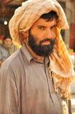 Arabische mens met tulband stock fotografie