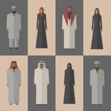 Arabische mensen, vlakke pictogrammen Royalty-vrije Stock Foto