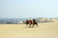 Arabische mensen in woestijn Royalty-vrije Stock Afbeelding