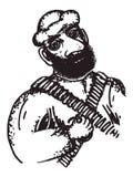 Arabische militair vector illustratie