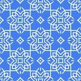 Arabische nahtlose Musterlinie Kunst stock abbildung