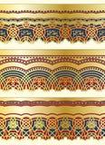 Arabische nahtlose Ränder vektor abbildung