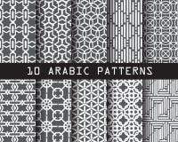 10 Arabische patronen royalty-vrije illustratie