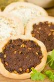 Arabische Pizza Stock Afbeeldingen